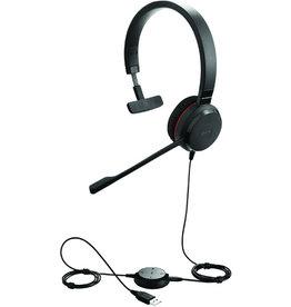 Jabra Headset, EVOLVE 30 II UC, Kopfbügel, Mono, USB A/3,5mm-Klinke, schwarz