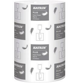 KATRIN Papierhandtuch Plus S100, 1lagig, auf Rolle, 20,5 cm x 100 m, weiß