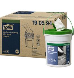 TORK Reinigungstuch Premium, 13,5 x 27 cm, Spendereimer, 4 x 58 Stück, weiß