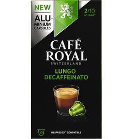 CAFÉ ROYAL Kapsel, LUNGO DECAFFEINATO, koffeinfrei, ergibt: 110 ml, 10 x 5,3 g