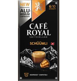 CAFÉ ROYAL Kapsel, LUNGO SCHÜÜMLI, koffeinhaltig, ergibt: 110 ml, 10 x 5,2 g