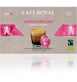 CAFÉ ROYAL Kapsel, LUNGO FORTE BIO, kräftig, koffeinhaltig, 50 x 6 g