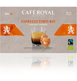 CAFÉ ROYAL Kapsel, ESPRESSO FORTE BIO, würzig, koffeinhaltig, 50 x 6 g