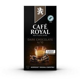 CAFÉ ROYAL Kapsel, DARK CHOCALATE, koffeinhaltig, 10 x 5 g