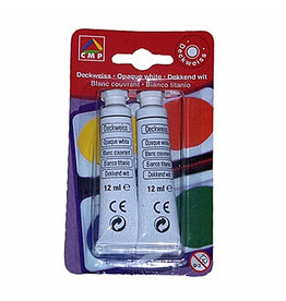 PRiMO Deckfarbe, 2 x 12 ml, Schreibf.: weiß