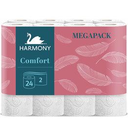Fighting Line Toilettenpapier HARMONY Comfort, 2lagig, auf Rolle, 200 Blatt, weiß