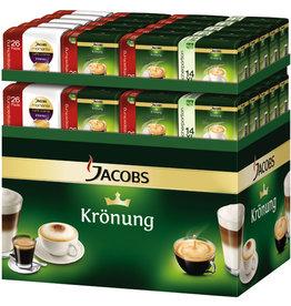 JACOBS Kaffeepad, Krönung Crema, kräftig, koffeinhaltig, 18 x 6,5 g