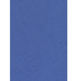 Umschlagmaterial, Karton, ledergenarbt, A4, blau