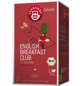 TEEKANNE Schwarztee English Breakfast Club, Bio, Beutel aromaversiegelt, 20x2g