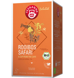 TEEKANNE Rooibostee Rooibos Safari, Bio, Beutel aromaversiegelt, 20 x 2 g