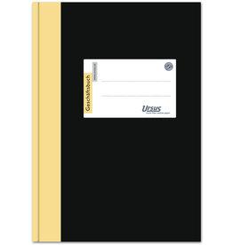 Ursus Geschäftsbuch Halbleinen, liniert 10 mm, A5, Einband: schwarz, 192Bl.