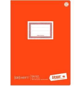 Ursus Green Schulheft, kariert mit Rahmen, A4, 60 Blatt