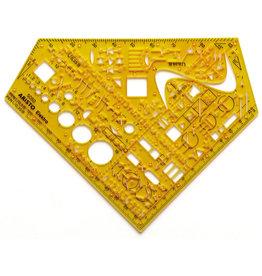 ARISTO Schablone, Elektro, ISO: 1302, Noppen unterseitig, 1,3 mm