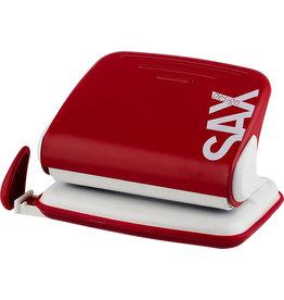 SAX Locher Design 318 M, mechanisch, 15 Blatt, 1,5 mm, rot