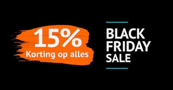 Black Friday: het hele weekend 15% korting op alles!