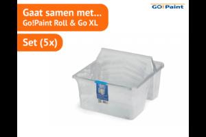 Go!Paint Inzetbak tbv Roll and Go XL  set à 5 stuks