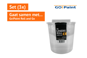 Go!Paint inzetbak tbv Roll and Go set à 3 stuks