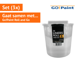 Go!Paint inzetbak tbv Roll and Go set à 3 stuks