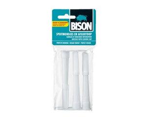 Bison 3 spuitmonden+afsluitdop in zakje
