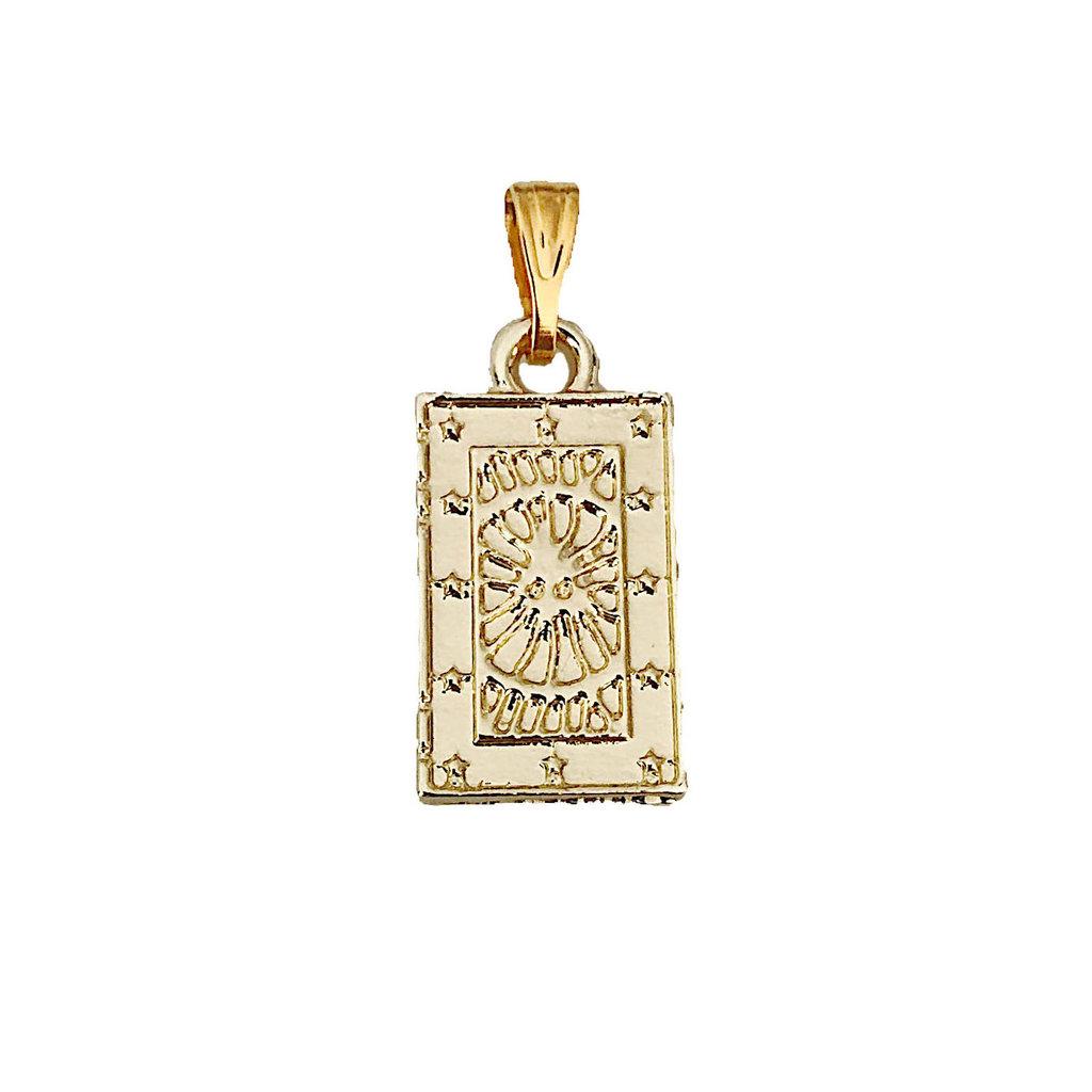Shining Sun Amulet - Gold