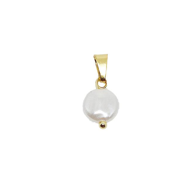 Tiny Flat Pearl - Goud