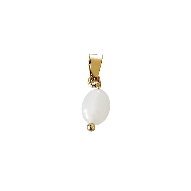 White Oval - Gold