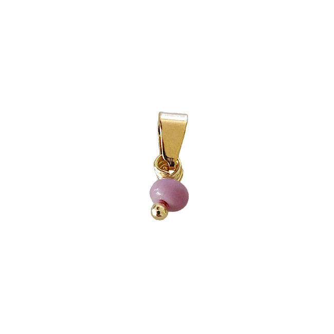Tiny Lilac Bead - Gold
