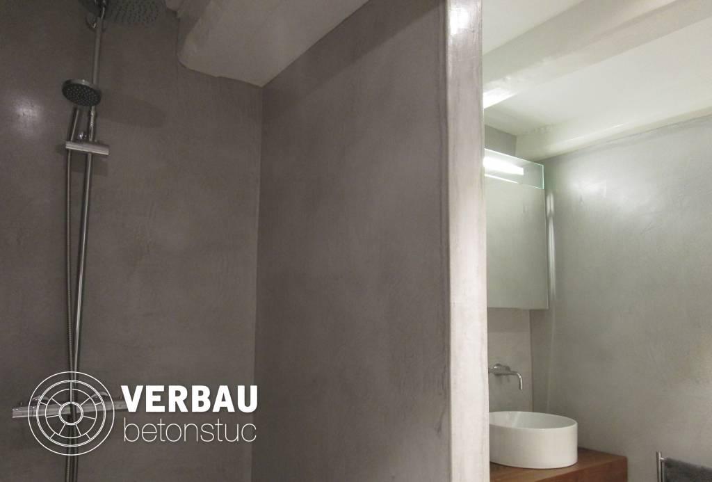 Workshop badkamer in verbau betonstuc verbau webshop betonstuc