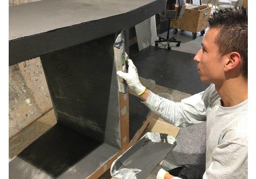 Workshop KEUKENMEUBEL in VERBAU-betonstuc kant&klaar