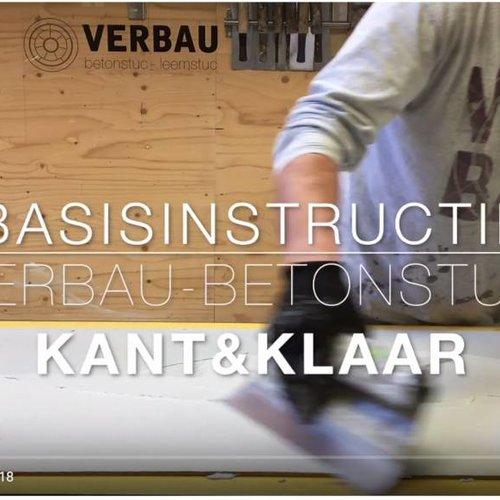 Instructievideo VERBAU-betonstuc kant&klaar online