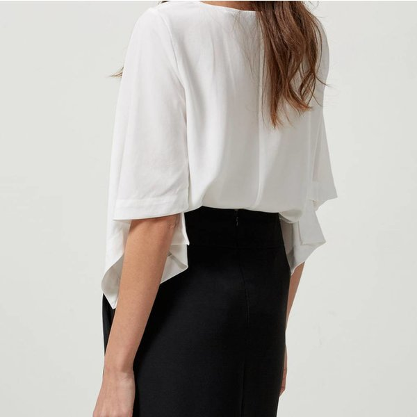 Selected Top with loose fitted sleeves