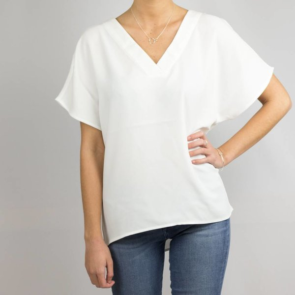 Selected V-neck top