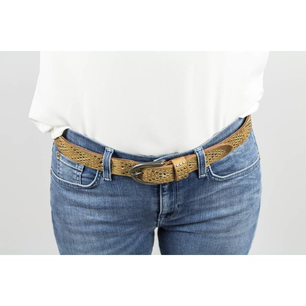 R95th Silver/Grey Studded belt