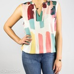 R95th Sleeveless multicolor top