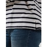 Selected Striped boatneck shirt (M)