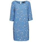 Selected Flower printed blue dress