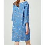 Selected Flower printed blue dress