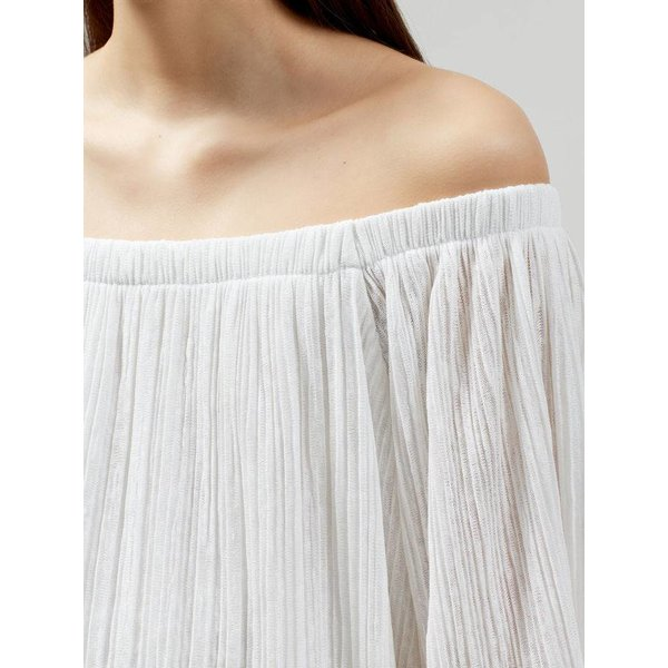 Selected Off shoulder white dress