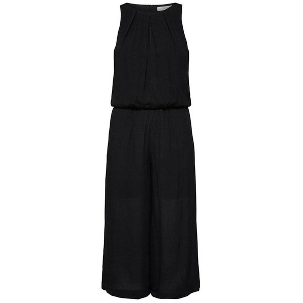 Selected Black sleeveless  jumpsuit