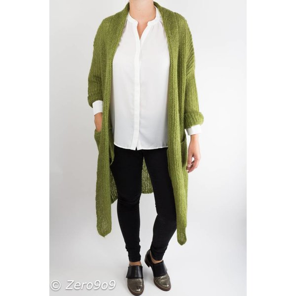 Selected Long knitted cardigan