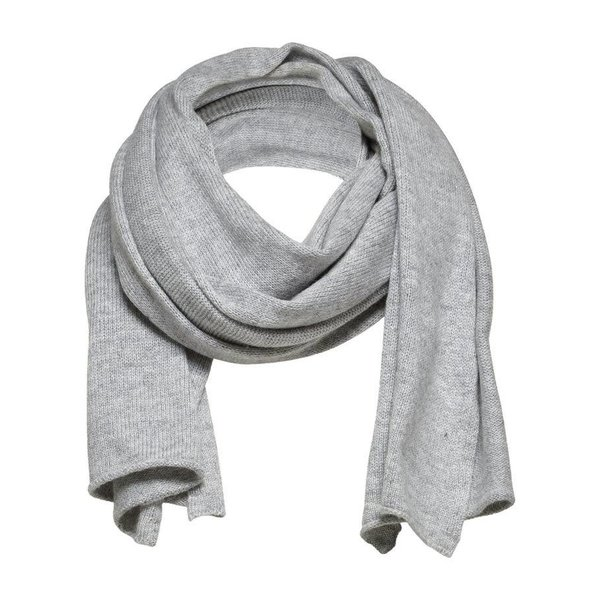 Selected Light grey knitted scarf
