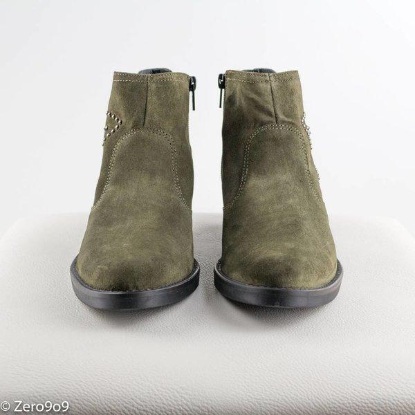 kanna Khaki studded boots