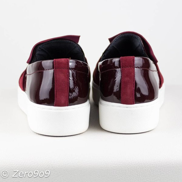 kanna Bordeaux bow sneakers (36)