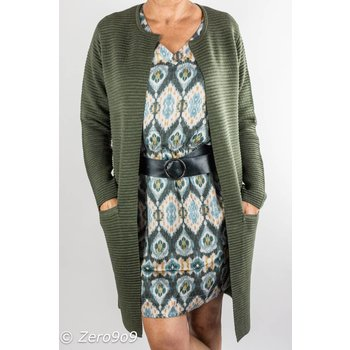 Selected Khaki rible cardigan