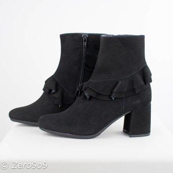 kanna Black volant boots