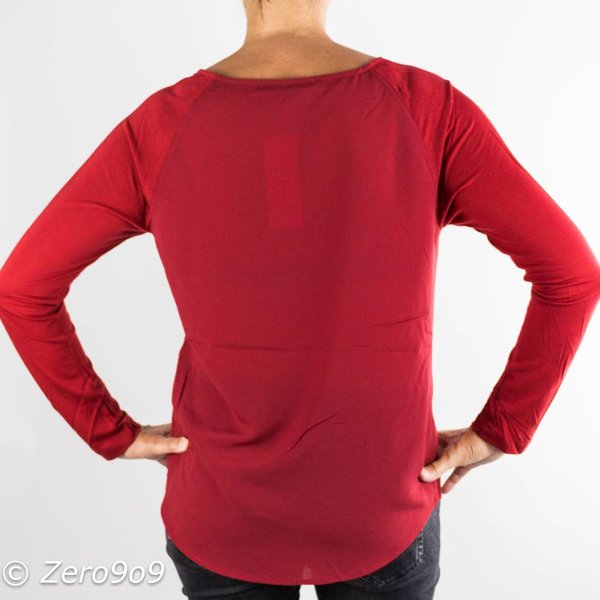 French Connection Basic raglan shirt cranberry