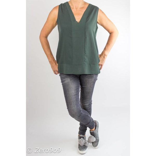 French Connection Sleeveless khaki top (XL)
