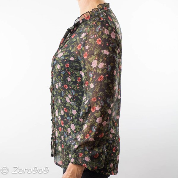 R95th Floral printed shirt