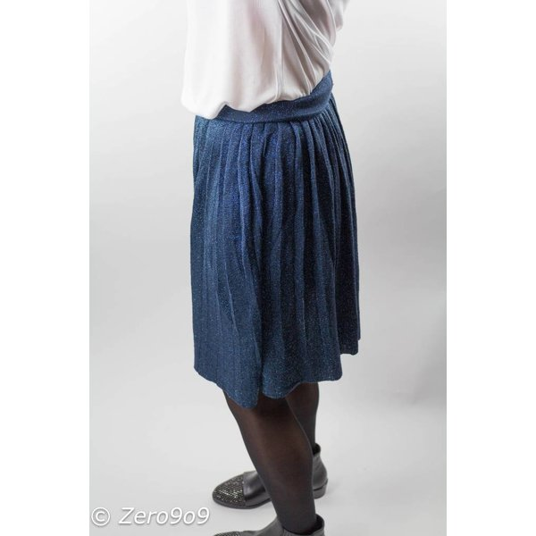 Selected Blue glitter skirt (XS)