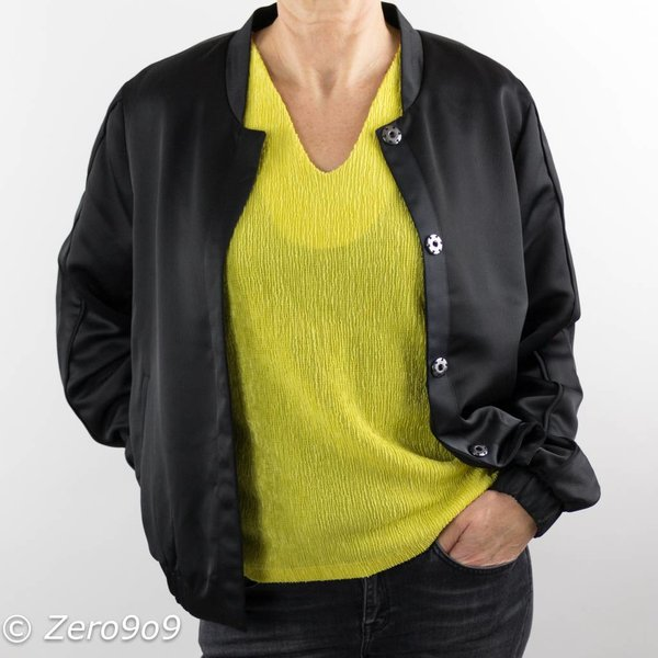 French Connection Vneck citron top (XS)